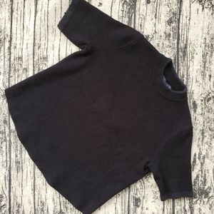 Zara Knit Black Basic Crop Top Sweater
